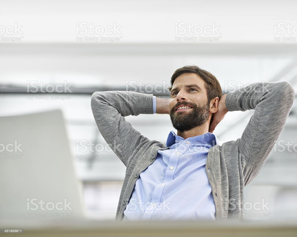 I can feel that promotion coming... stock photo