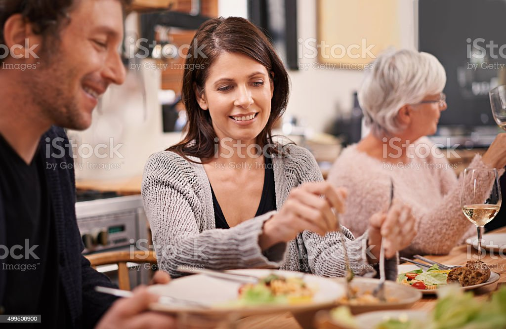Can I dish for you? stock photo