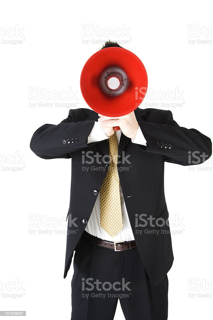 Can I have your attention PLEASE royalty-free stock photo