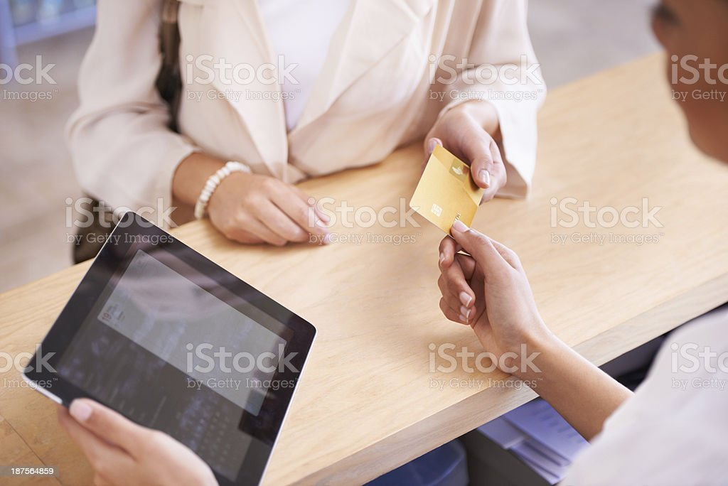 Can I pay with this? stock photo
