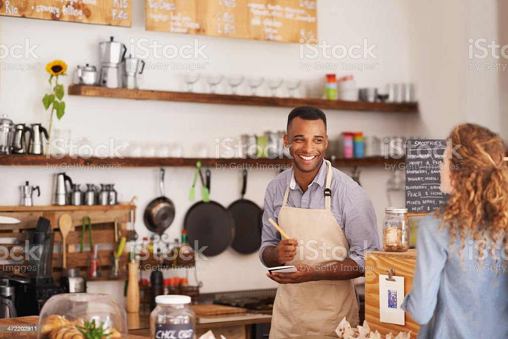 Can I take your order? stock photo
