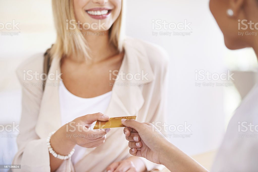 Can I use debit? stock photo