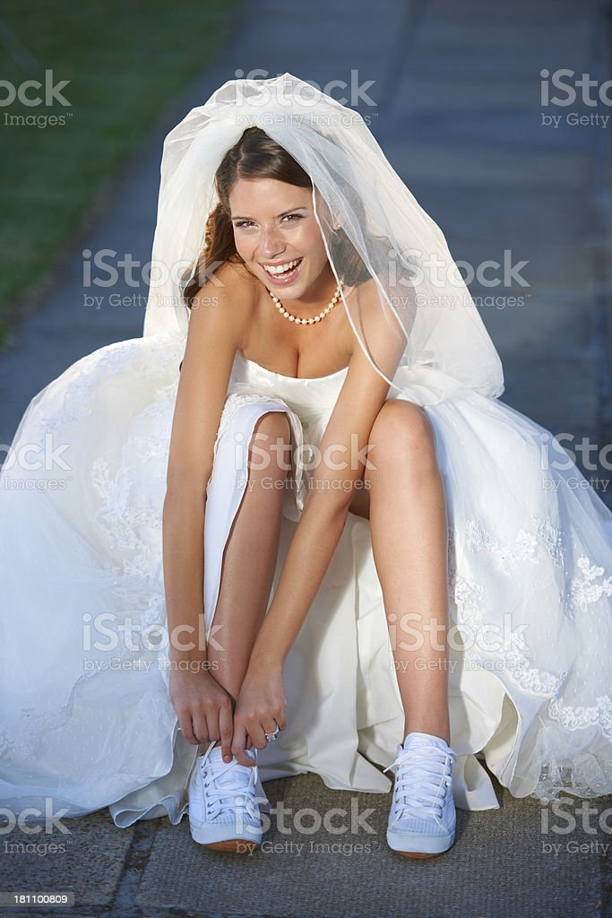 Can I wear these down the aisle? stock photo