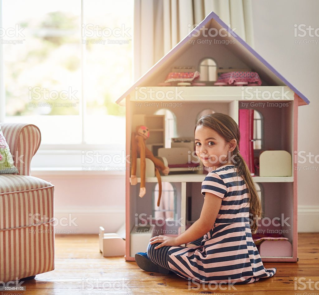 I can just play with my toys all day long stock photo