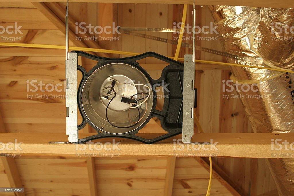 Can light receptacle stock photo