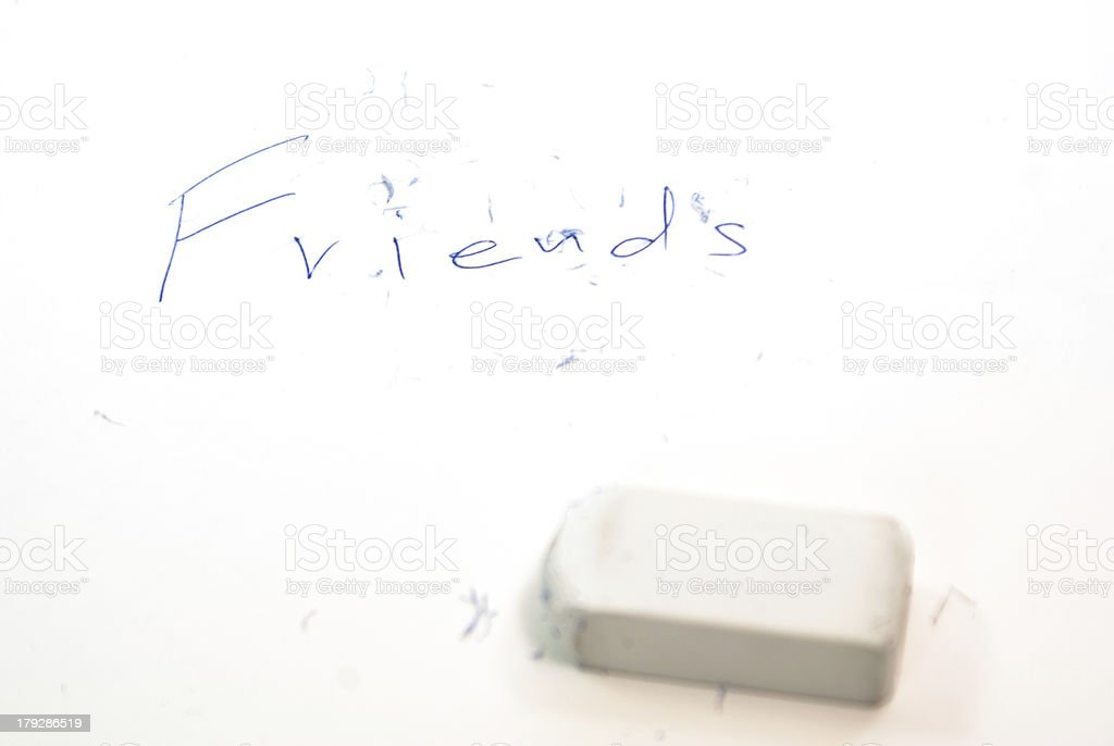 can not delete friends royalty-free stock photo
