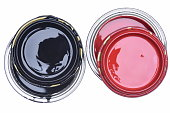 Can of Black and Red Paint