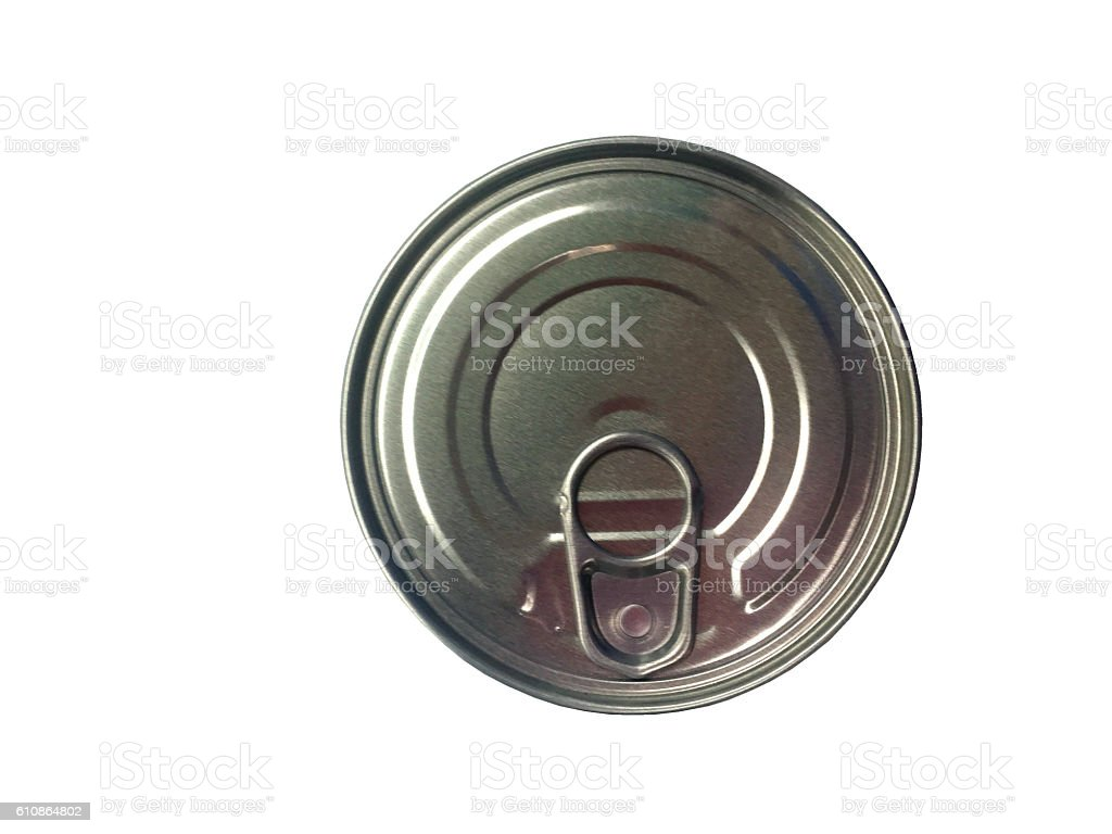 Can of conserved food on the white background stock photo