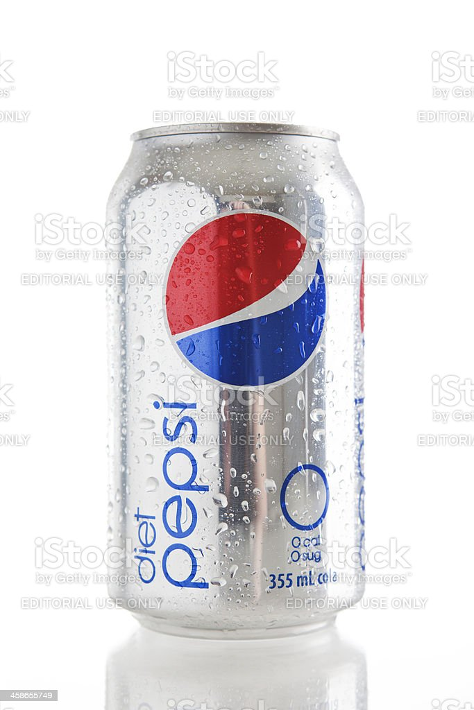 Can of Diet Pepsi stock photo