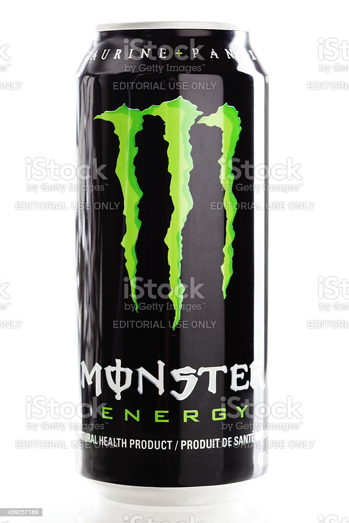 Can of Monster Energy Drink stock photo