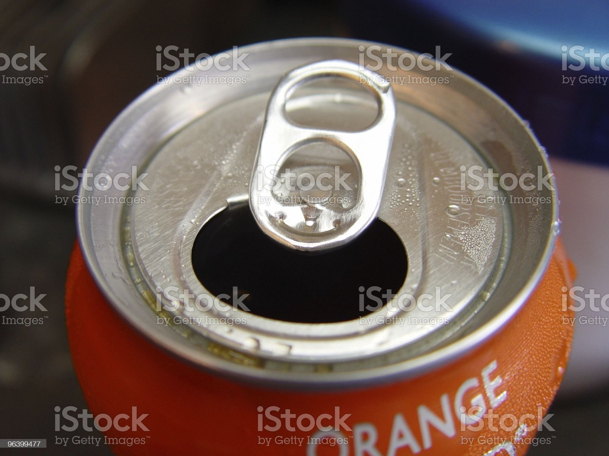 Can of Orange Pop royalty-free stock photo