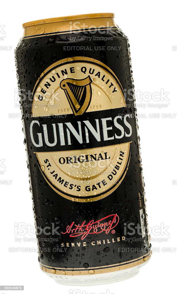 Can of Original Guinness stock photo