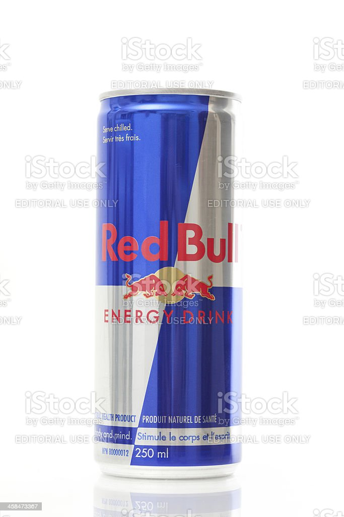 Can of Red Bull Energy Drink stock photo