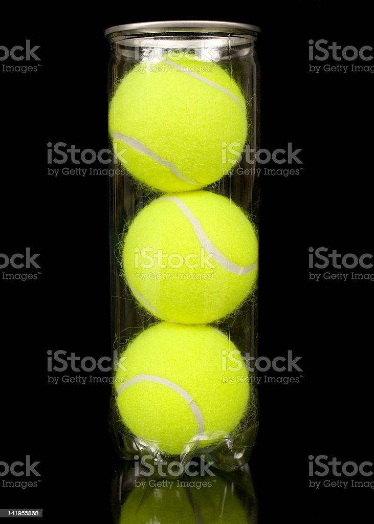 Can of Three New Tennis Balls royalty-free stock photo