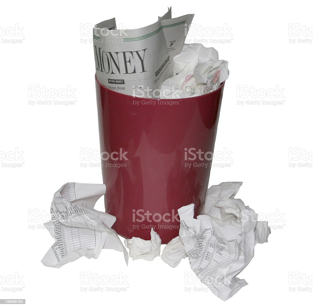 Can of Trash1 royalty-free stock photo