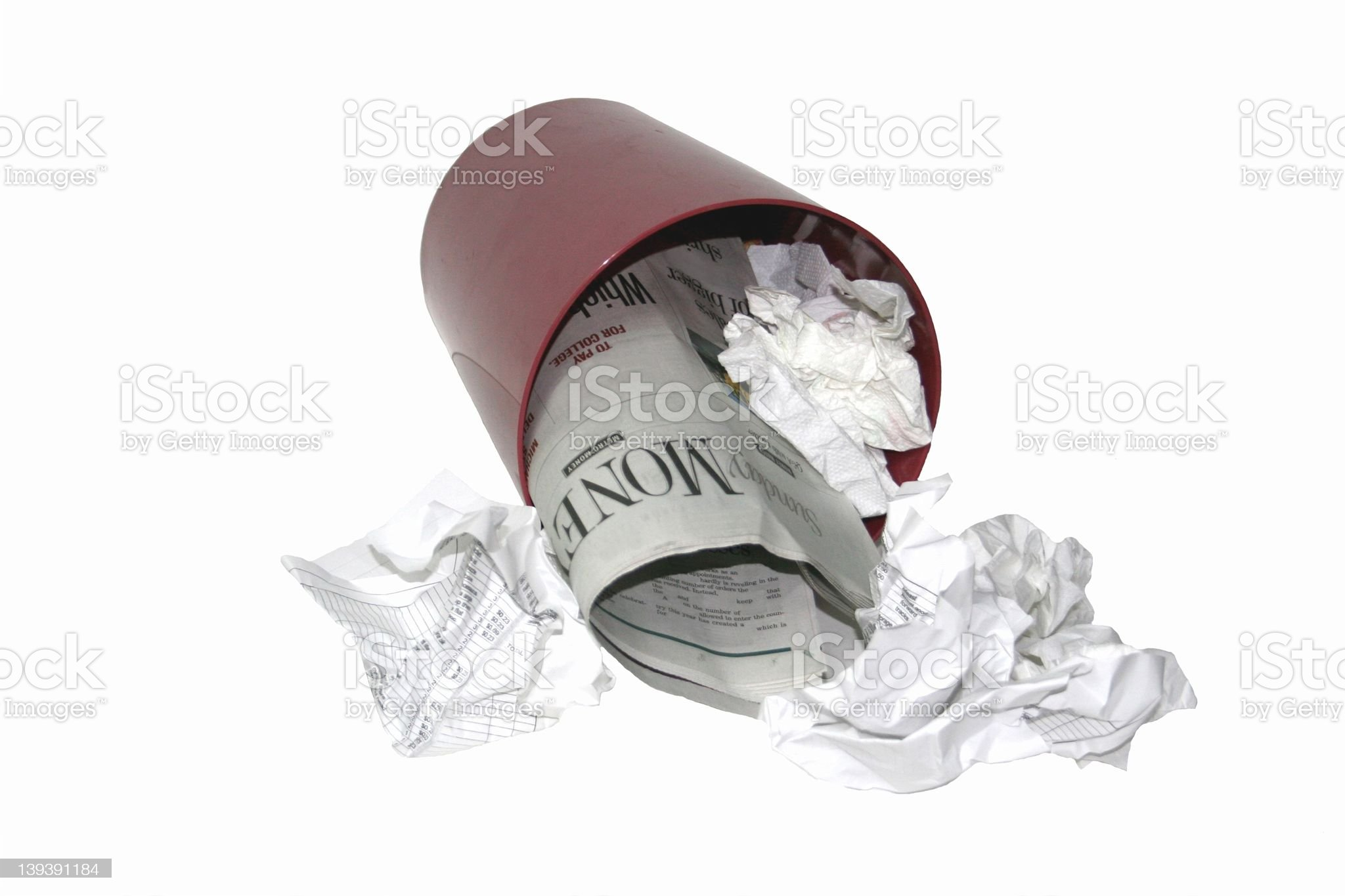 Can ofTrash3 royalty-free stock photo