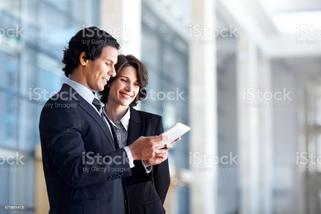 I can organise everything with this tablet! royalty-free stock photo