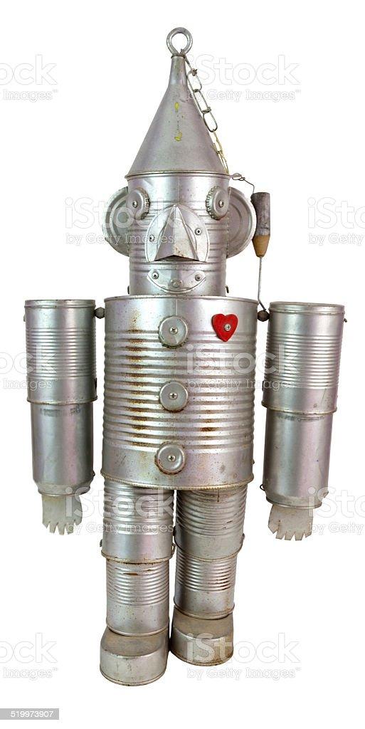 Tin Can Robot stock photo