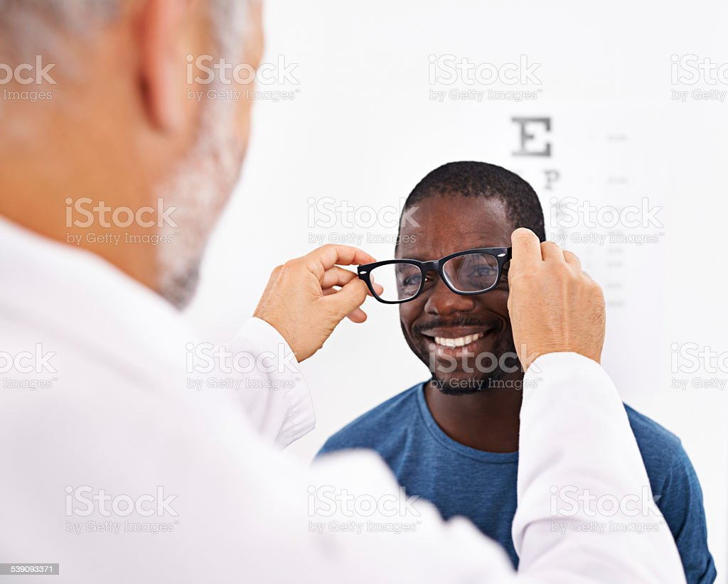 I can see clearly now... stock photo