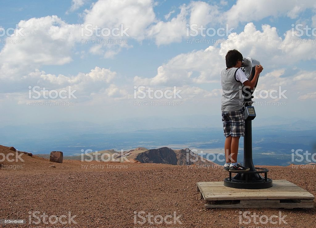 I can see for miles and miles... stock photo