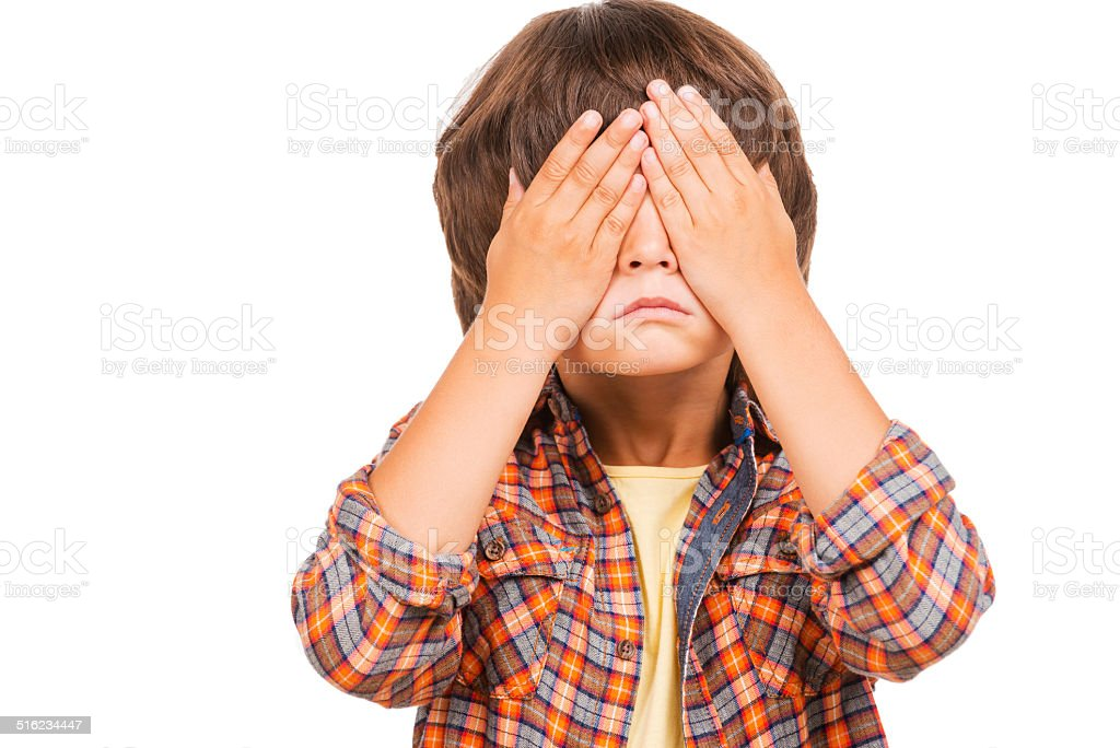 I can see nothing! stock photo