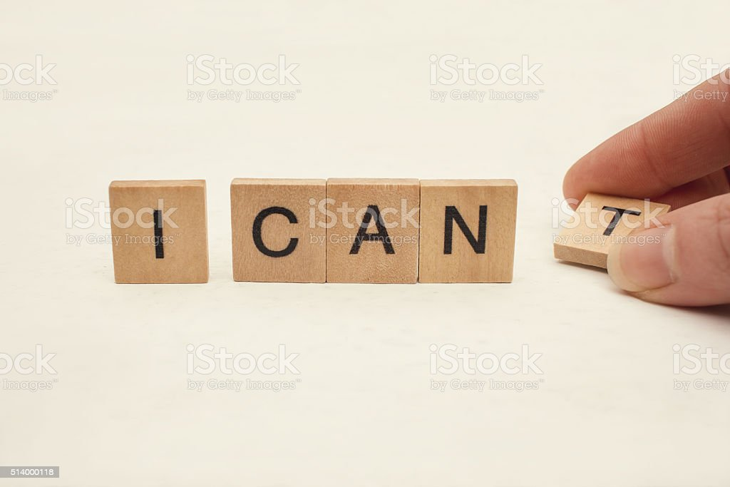 I can self motivation stock photo