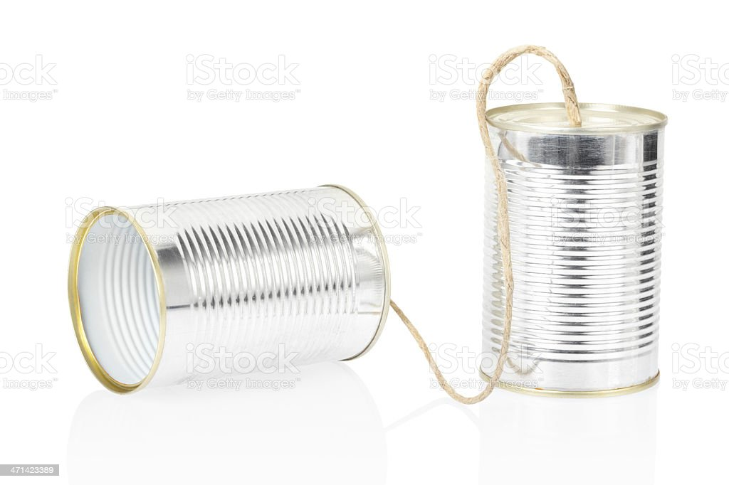 Can telephone royalty-free stock photo