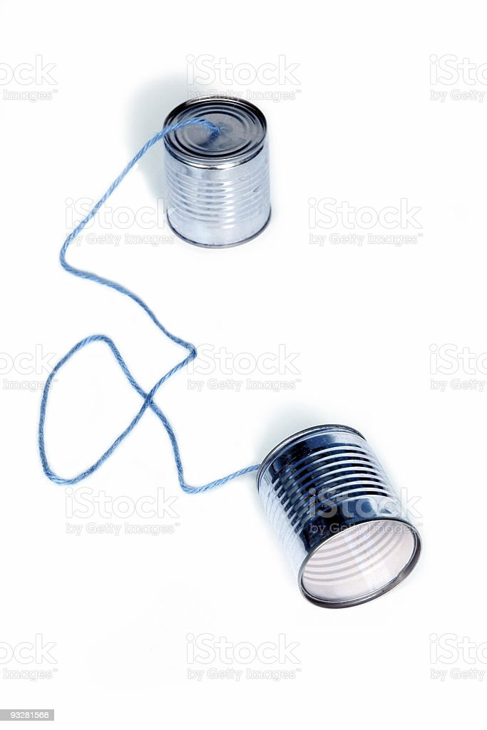 can telephones royalty-free stock photo