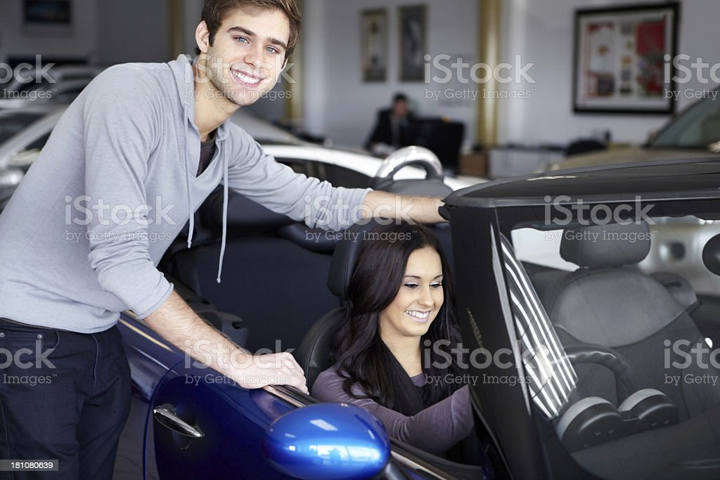 I can tell it's the one she wants! royalty-free stock photo