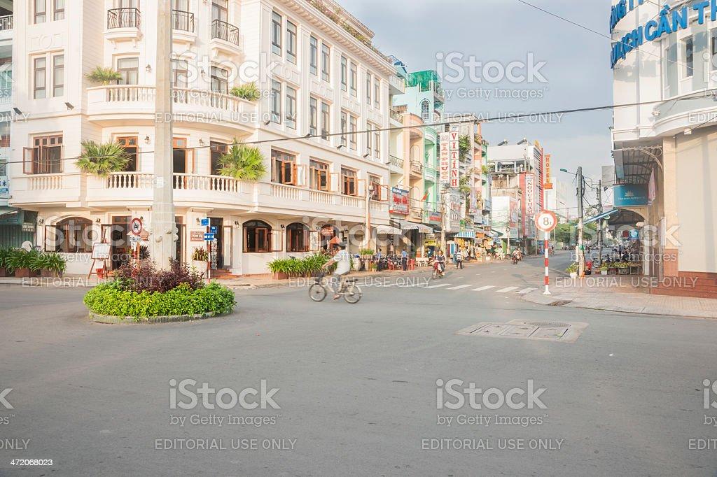 Can Tho City Street stock photo