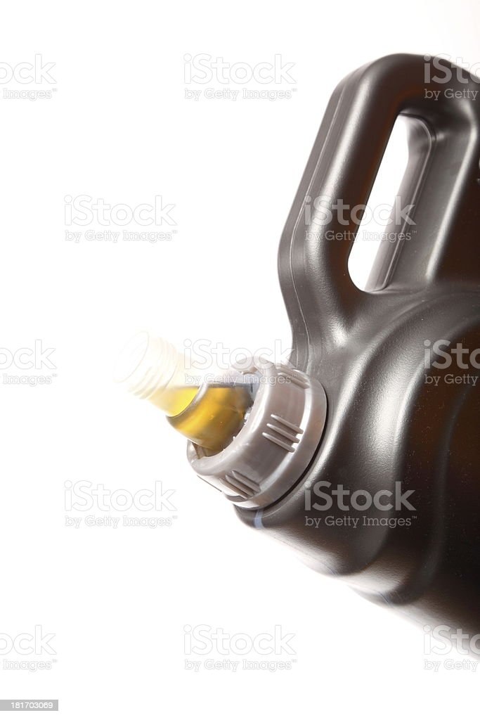 Can with car engine oil isolated royalty-free stock photo
