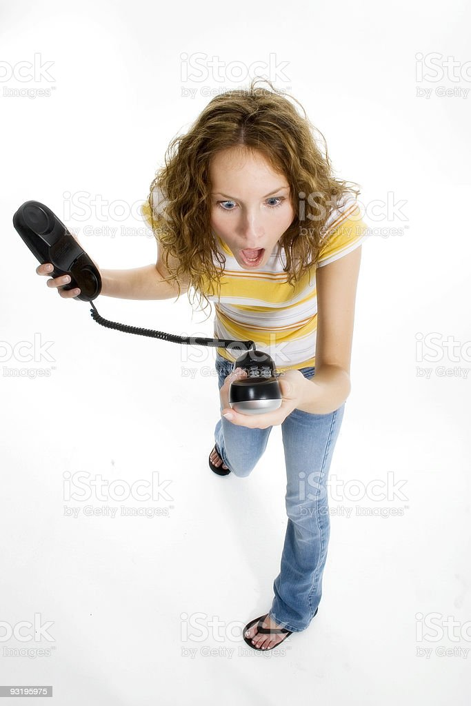 Can You Hear Me Now? stock photo