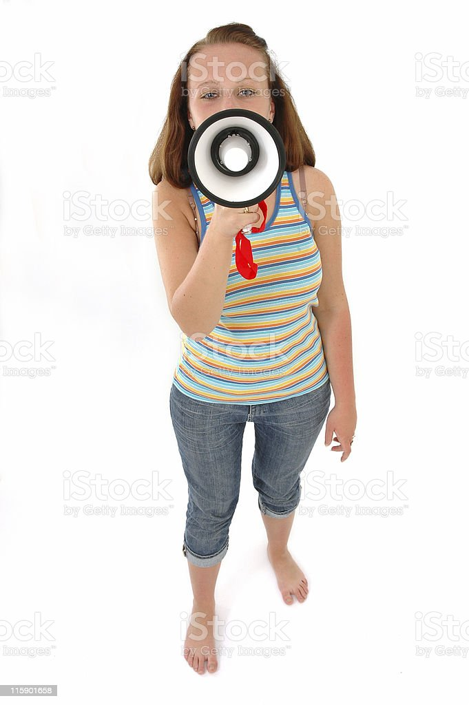 can you hear me? royalty-free stock photo