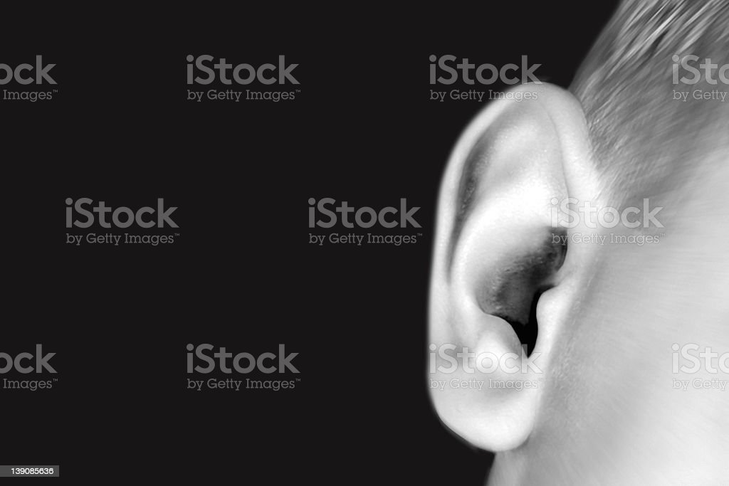 Can You Hear Me stock photo