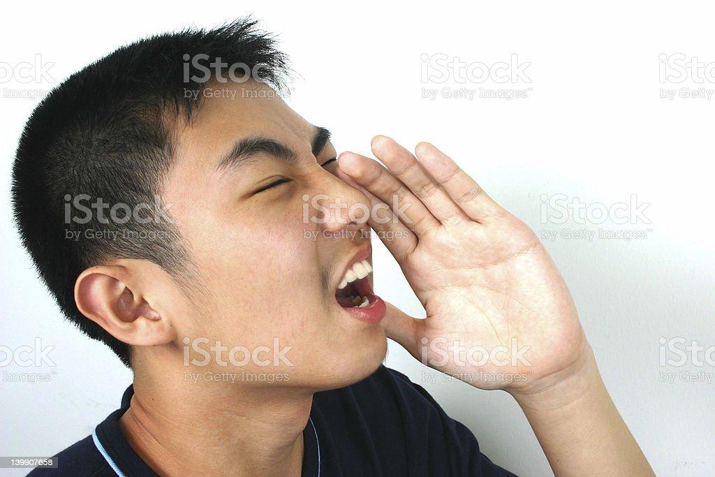 Can you hear me! Lizenzfreies stock-foto