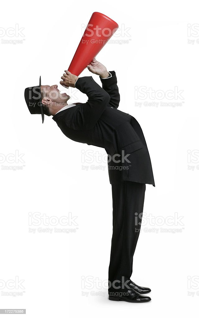 Can You Hear Me! royalty-free stock photo