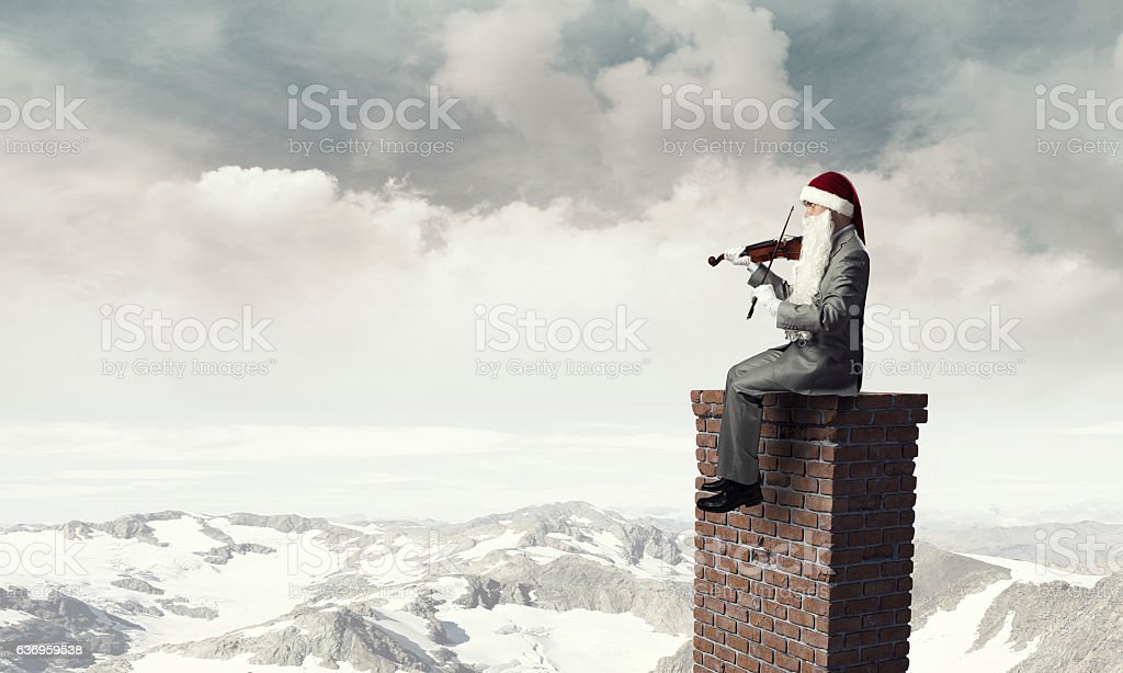 Can you here this Christmas melody . Mixed media stock photo