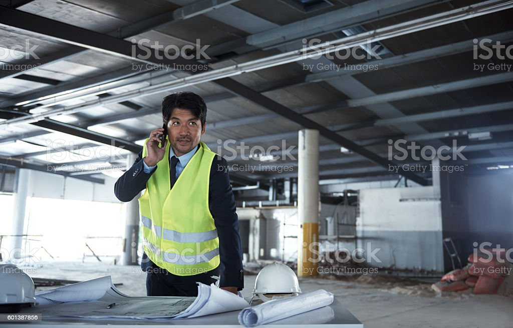 Can you meet me on site? stock photo