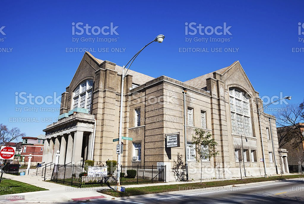 Canaan Baptist Church of Christ in Southwest Chicago stock photo