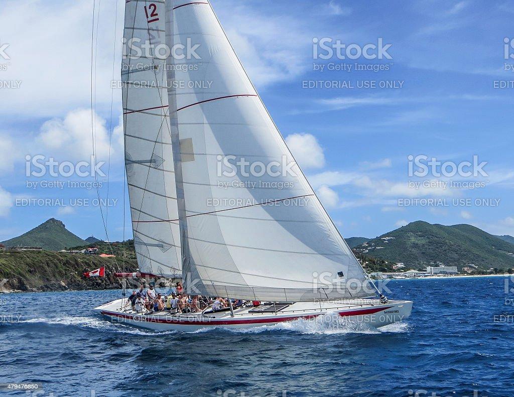 Canada 2 off the Coast of St. Maarten stock photo