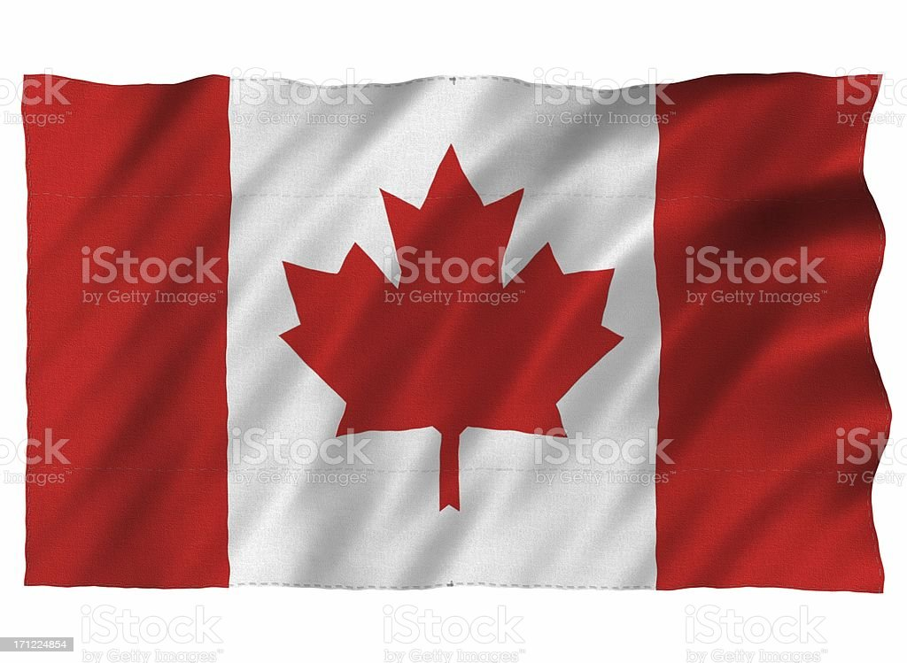 Canada 3D flag on white royalty-free stock photo