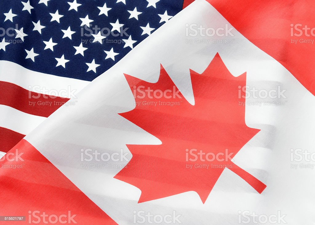 Canada and the United States stock photo