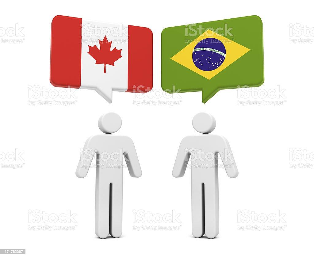 Canada Brazil Concept royalty-free stock photo