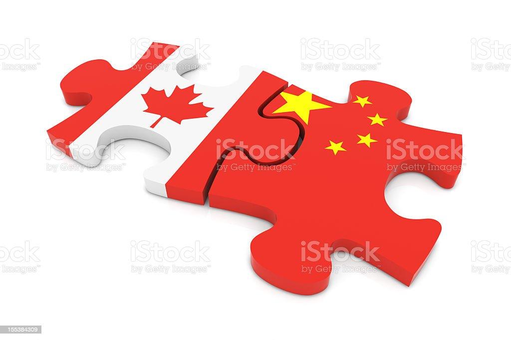 Canada China Puzzle royalty-free stock photo