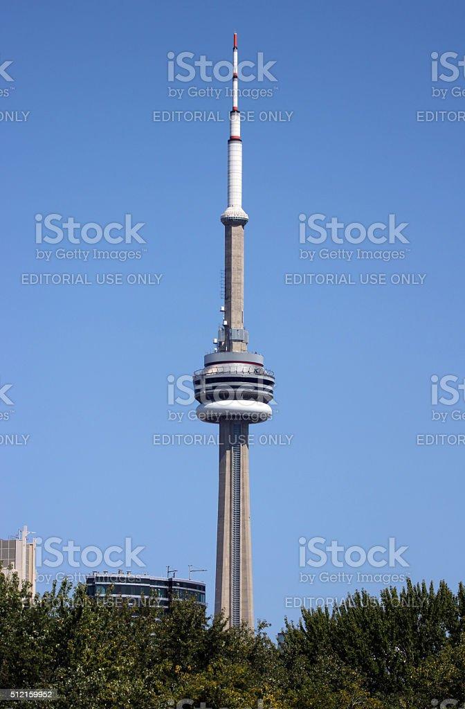 Canada: CN Tower in Toronto stock photo