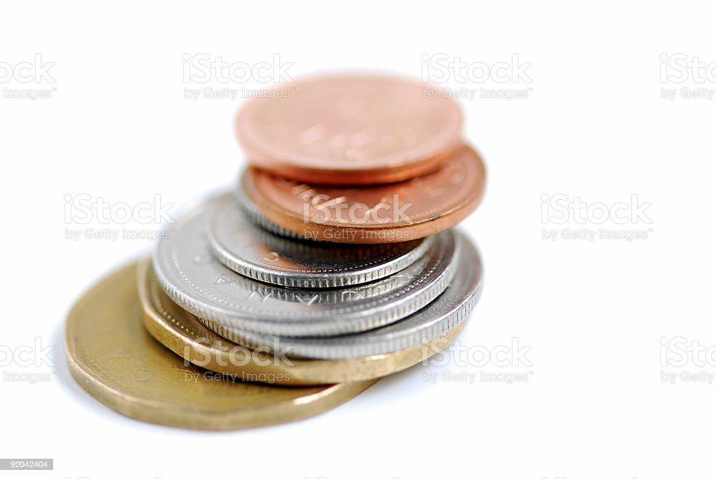 Canada coins stock photo