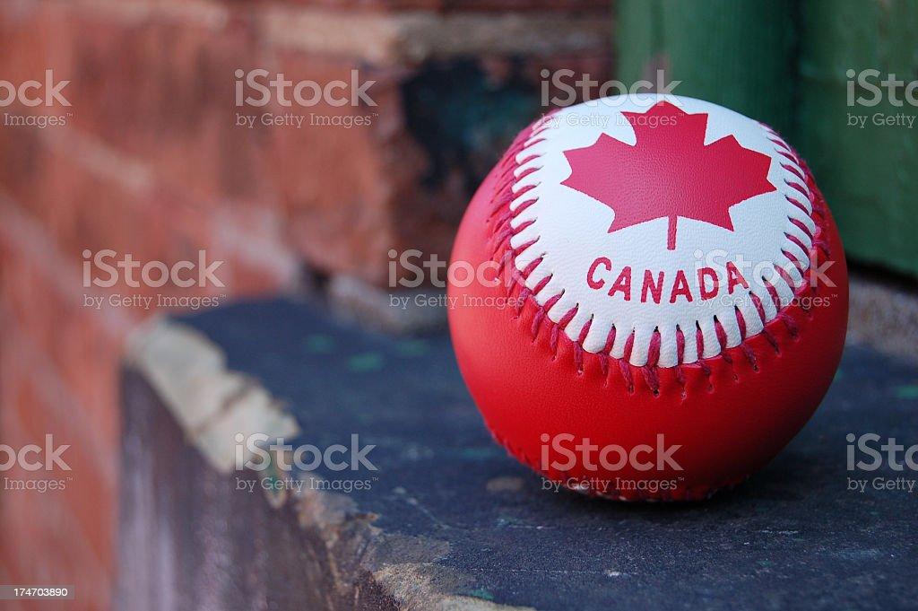 Canada Day baseball royalty-free stock photo