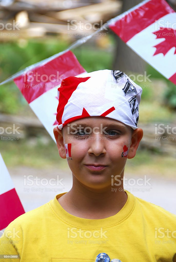 Canada Day Child royalty-free stock photo