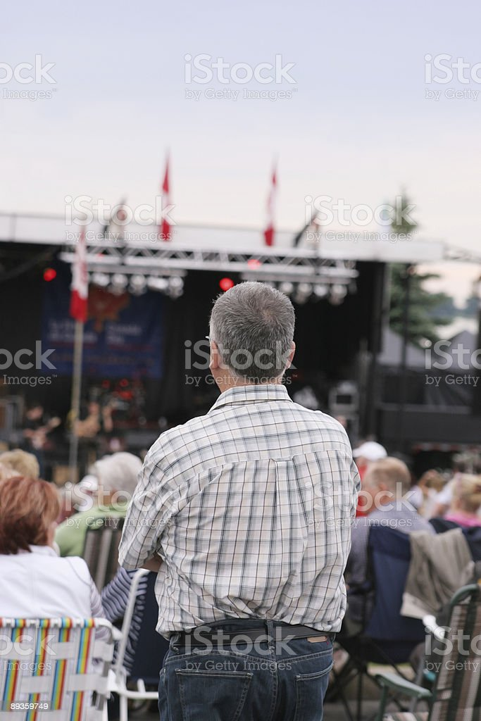 Canada Day concert royalty-free stock photo
