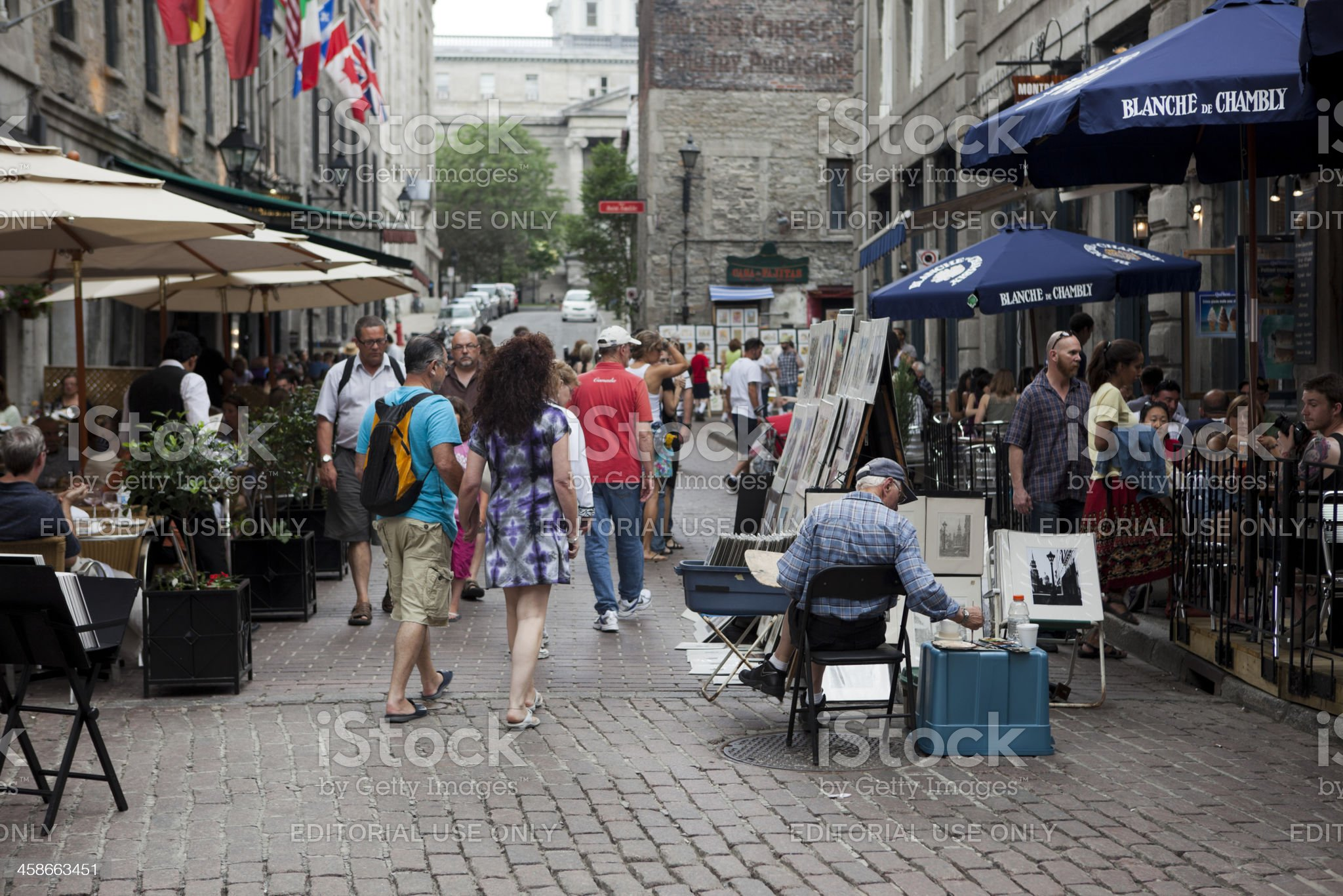 Canada Day Festivities in Old Town Montreal royalty-free stock photo